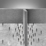 Barreira ao negócio ilustração do vetor