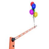 Barreira com close-up dos balões Fotografia de Stock Royalty Free