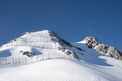 Barreira da avalancha Imagens de Stock Royalty Free