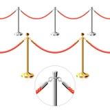 Barreira da corda ilustração royalty free