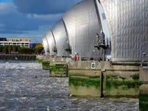 Barreira da inundação de Tamisa Foto de Stock Royalty Free