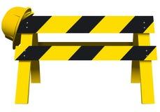 Barreira da segurança da construção Foto de Stock Royalty Free
