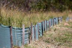 Barreira de retenção ambiental Imagem de Stock