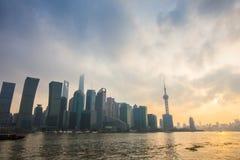 Barreira de Shanghai no por do sol Imagens de Stock Royalty Free