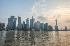 Barreira de Shanghai no por do sol Fotos de Stock