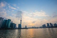 Barreira de Shanghai no por do sol Fotografia de Stock