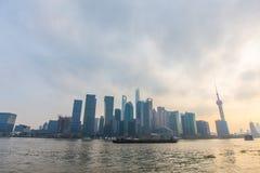 Barreira de Shanghai no por do sol Fotografia de Stock Royalty Free