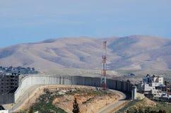 Barreira do banco ocidental de Israel imagem de stock