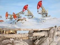 Barreira do petróleo fotografia de stock royalty free
