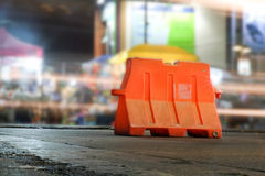 A barreira do tráfego Foto de Stock Royalty Free