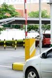 Barreiras automáticas da segurança do veículo Fotografia de Stock Royalty Free