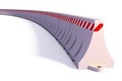 Barreiras portáteis do tráfego Imagem de Stock