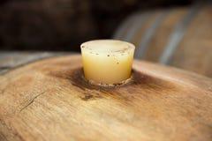 barrel вино пробочки крупного плана Стоковые Изображения