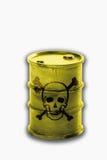 Barrel с знаками черепа и кости на белой предпосылке Стоковое фото RF
