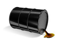 Barrel. Black 3d rendered oil barrel vector illustration