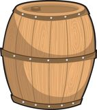 Barrel. Illustration of barrel on white royalty free illustration