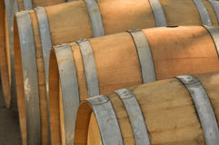 Barrel. Wooden Barrel used to store Wine Royalty Free Stock Photos