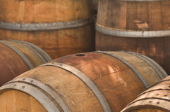 Barrel. Wooden Barrel used to store Wine Royalty Free Stock Image
