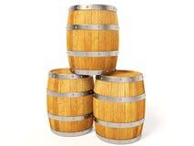 Barrel. Wood barrel on isolated background Royalty Free Stock Photography