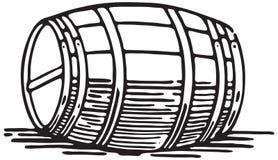 Barrel. Retro Art Banner And Vector stock illustration