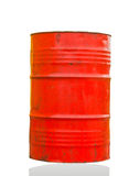 Barrel. Big iron empty red a barrel close up Royalty Free Stock Photo