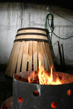 Barrel. The making process of a barrel royalty free stock photography