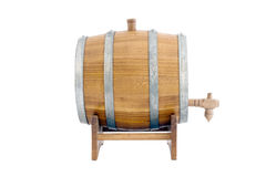 Barrel. Of a white background isolated Royalty Free Stock Photos