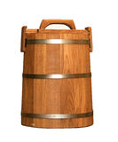 Barrel. Wood brown barrel wich cap Royalty Free Stock Photos