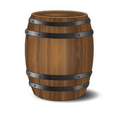 Barrel. A wooden beer or wine barrel on white background. Also could represent a gunpowder barrel royalty free illustration