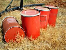 Barrel. Red barrel Stock Photography