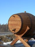 Barrel. Wooden barrel royalty free stock photos