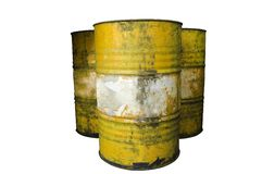 Barrel. Dirty group of Royalty Free Stock Photos
