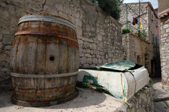 Barrel And Boat Stock Images
