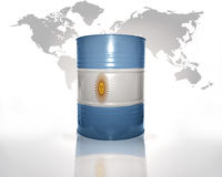 Barrel with argentinean flag royalty free illustration