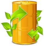 Barrel with arrow Royalty Free Stock Photography