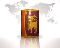 barrel avec le drapeau du Sri Lanka sur la carte du monde Photos libres de droits