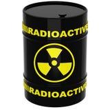 Baril avec les matériaux radioactifs illustration libre de droits