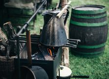 Barrel, Basket, Bucket, Charcoal Royalty Free Stock Images