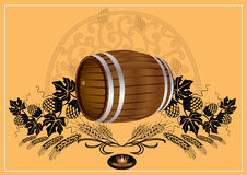 Barrel beer wine kvass Royalty Free Stock Photos