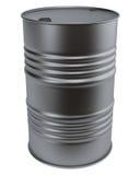 Barrel. Black barrel isolated on white Stock Image