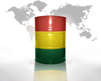 Barrel with bolivian flag Stock Image
