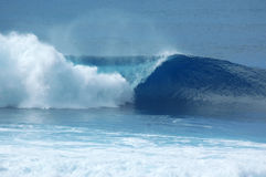 Barrel Break. North Shore Oahu's Famous Banzai Pipeline Stock Images