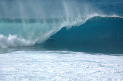 Barrel Break. North Shore Oahu's Famous Banzai Pipeline Stock Photography