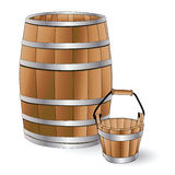 Barrel and bucket Stock Image
