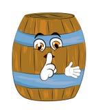 Barrel cartoon Royalty Free Stock Photo
