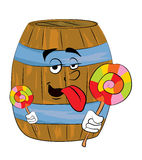 Barrel cartoon Stock Photography