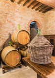 The barrel cellar of Montepulciano red wine Royalty Free Stock Image