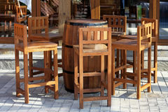 Barrel and chairs Royalty Free Stock Photos