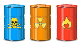 Barrel of chemicals. Royalty Free Stock Image