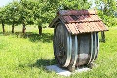 Barrel for cider Stock Image